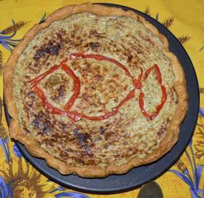 Tarte au thon, au crabe et aux aubergines - Photo par hbertrt