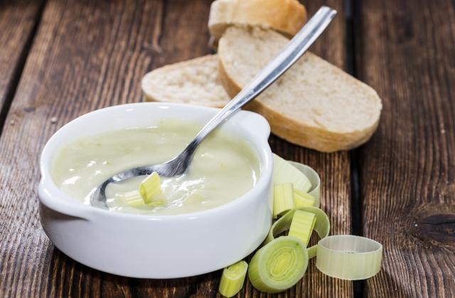 Soupe de blancs de poireaux - Photo par 750g