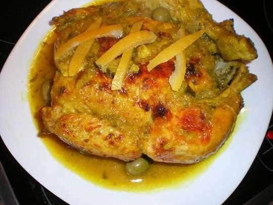 Poulet aux olives et citron confit - Photo par nina 1