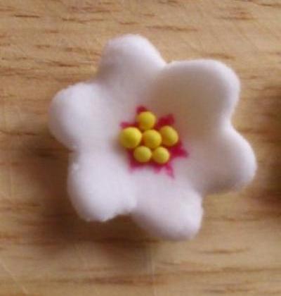 Fleurs de cerisier en pâte à sucre - Photo par mel3265