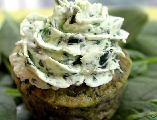 Cupcake aux épinards et Philadelphia aux herbes - Photo par rose and cook