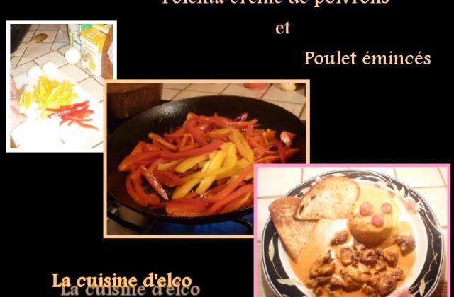 Polenta à la crème de poivrons et poulet émincés - Photo par champs8