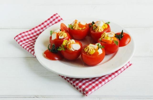 Mini-tomates farcies aux Petits Coraya - Photo par Coraya