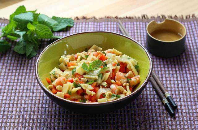 On ne se lasse pas des salades de crevettes surtout en 5 versions - Photo par Silvia Santucci