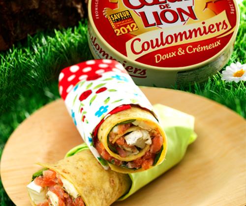 Petits wraps, au Coulommiers Cœur de Lion et aux deux saumons - Photo par Quiveutdufromage.com