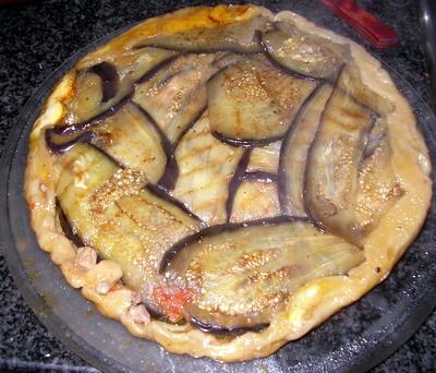 Tatin de thon aux aubergines et mozzarella - Photo par marccey