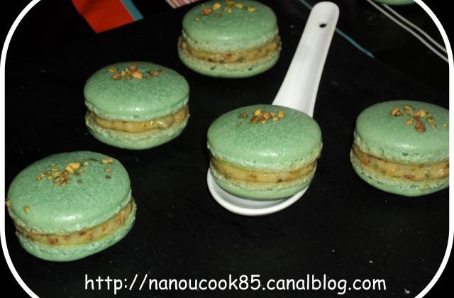 Macaron à la pistache - Photo par Nanouucook