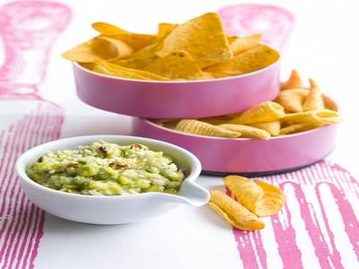 Pragmatiques dips de soufflés et tortillas, guacamole mangue /avocat - Photo par Apéro-Style(s) 'fait maison'