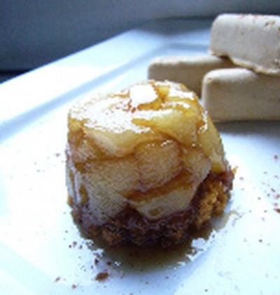 Mini tatin aux poires caramélisées au pain d'épices - Photo par nanoudK