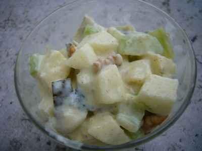 Harengs, pommes et noix en sauce curry - Photo par Celine-BlogCommeuneBulle