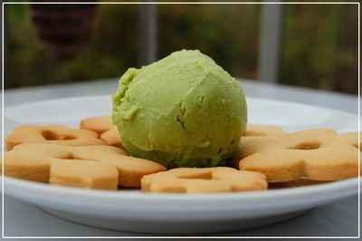 Crème glacée aux petits pois et à l'amande - Photo par charliDQ