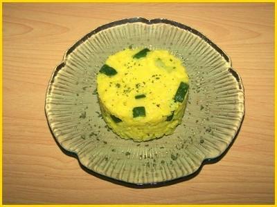Risotto aux courgettes, parmesan et curcuma - Photo par Titeratatouille