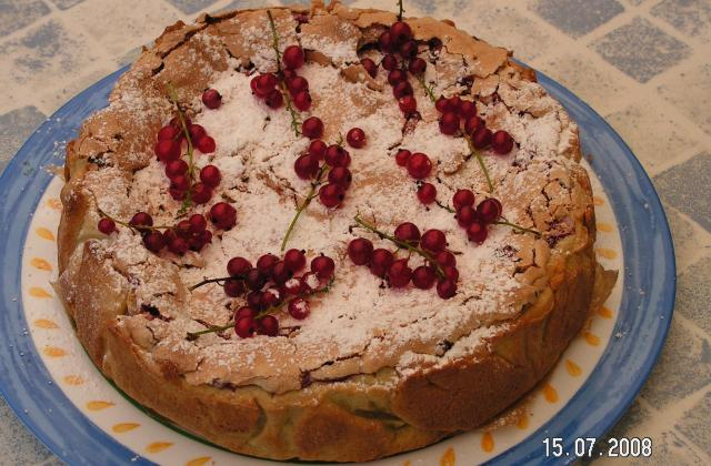 Gâteau meringué aux groseilles maison - Photo par kekeli