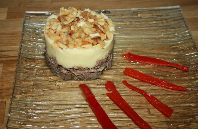 Hachis parmentier au confit de canard et aux pommes 4 épices - Photo par cristinab