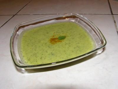 Velouté de courgettes au curry - Photo par bourra
