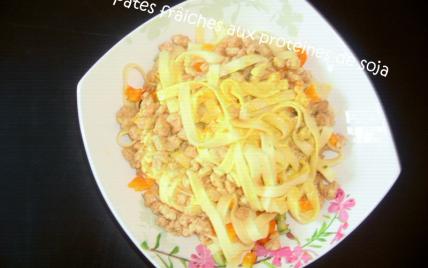 Pâtes fraîches aux protéines de soja - Photo par adelinaK