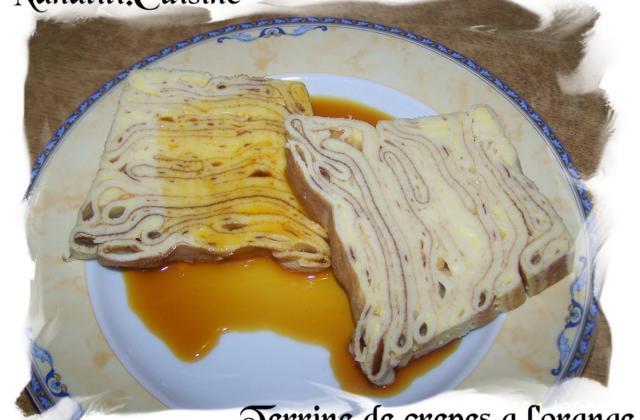 Terrine de crêpes et son caramel à l'orange - Photo par isabelV2