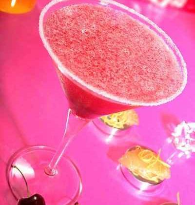 Cocktail aux sirops de cerise et pamplemousse - Photo par 750g