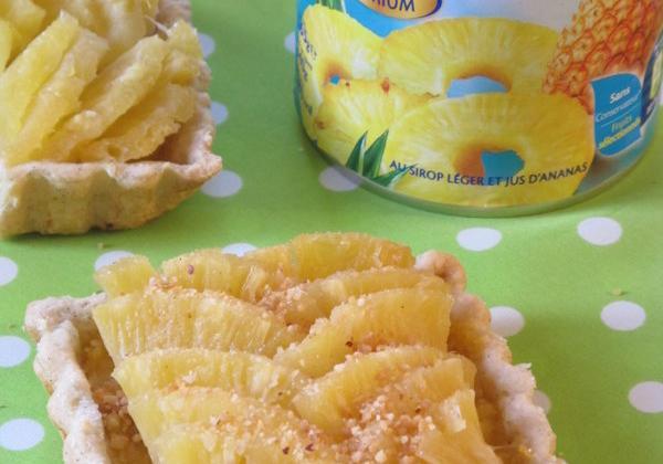 Tartelette à l'ananas et au pralin - Photo par eloala