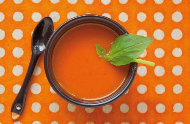 Gaspacho express tomates-basilic - Photo par Interfel