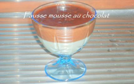 Fausse mousse aux chocolats facile - Photo par adelinaK