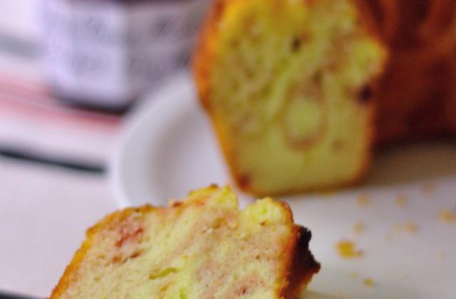 Gâteau Zebra au citron et à la confiture de cerises griottes Bonne Maman - Photo par Bonne Maman