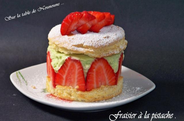 Fraisier à la pistache - Photo par Nounoune25