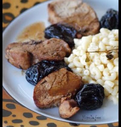 Filet mignon aux pruneaux et sa sauce au vin blanc - Photo par mimilafee