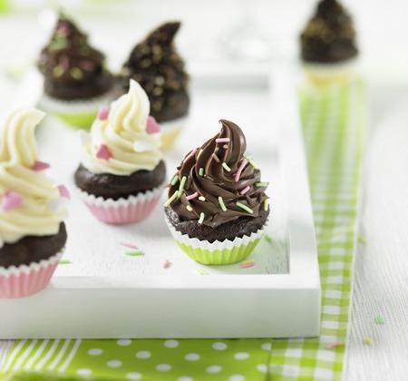 Déclinaison de mini cupcakes tout chocolat - Photo par Ker Cadélac
