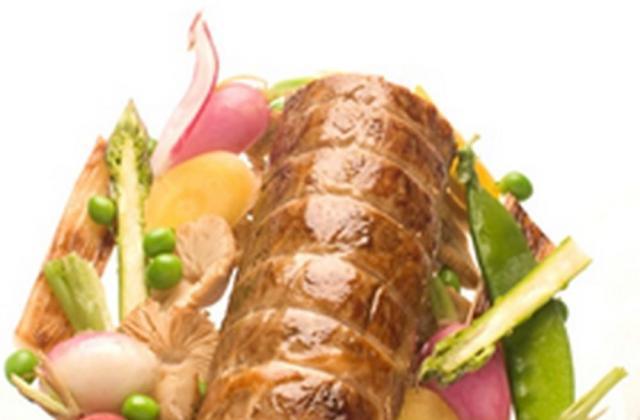 Veau farci au Chavignol, fricot de légumes - Photo par Fromage Chavignol