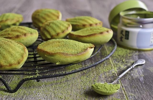 Mini-madeleines au thé matcha - Photo par LesPtitesBulles