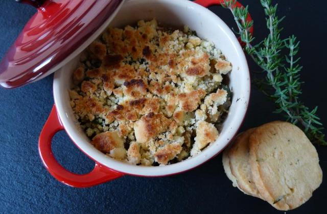 Crumble aux légumes du soleil et sablés au parmesan - Photo par marianWG