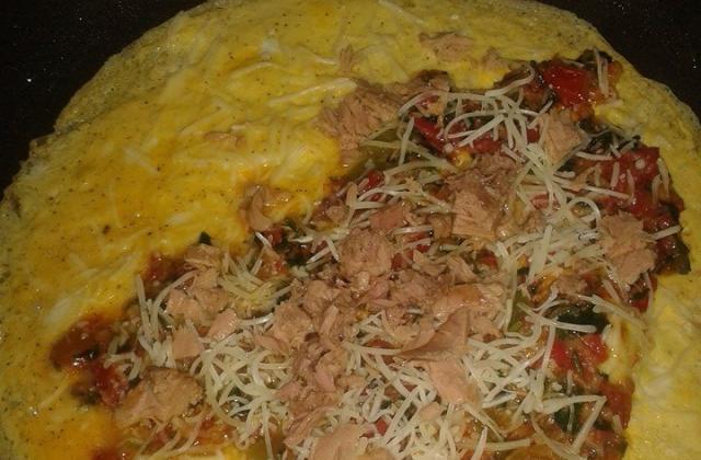 Omelette aux légumes sautés - Photo par olfatr