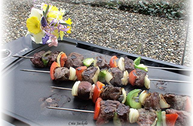 Brochettes de boeuf aux poivrons maison - Photo par lesjac