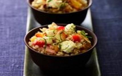 Quinoa fruité au Chabichou du Poitou - Photo par Fromages de Chèvre