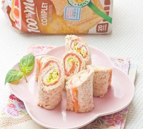 Wraps de pain de mie Saumon au Wasabi - Photo par Invité