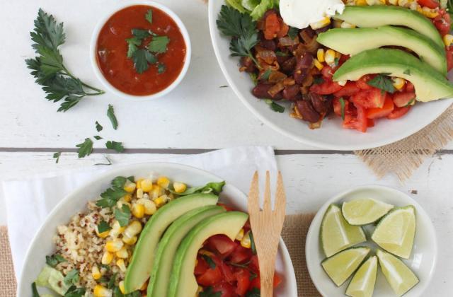 Bol de tacos mexicains destructurés - Photo par The Sunny Foodie