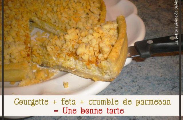 Tarte courgette, feta, crumble de parmesan - Photo par La petite cuisine de Sabine