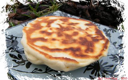 Naans fromage & viande des grisons - Photo par chouya