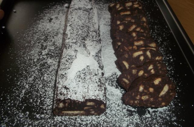 Saucisson au chocolat traditionnel - Photo par naty44190