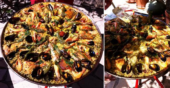 Paella infusé au bouillon de volaille et crustacés - Photo par UNOMAFU