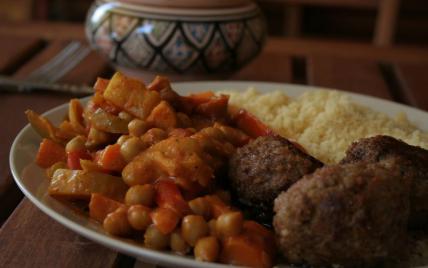 Couscous de légumes au curry et lait de coco - Photo par mayade
