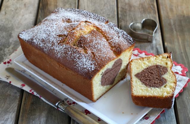 Cake vanille et son coeur au chocolat - Photo par Silvia Santucci