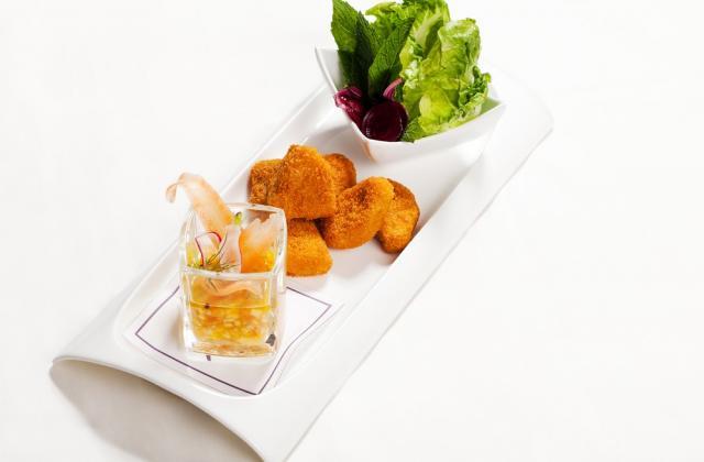 Nuggets de poulet, salsa de tomate et mangue au poivre de sechouan - Photo par Iglo