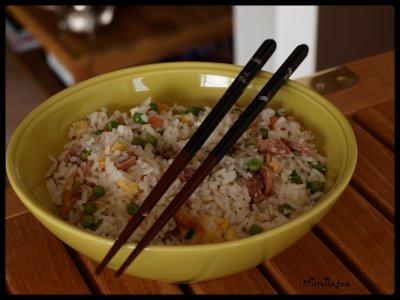 Riz cantonais aux saucisses Thaï - Photo par mimilafee