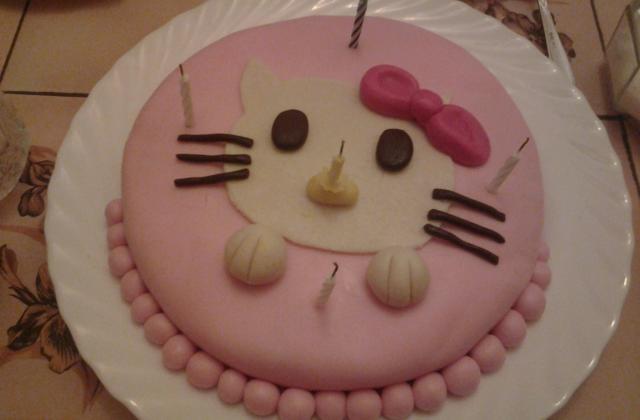 Gâteau d'anniversaire hello kitty pour manel - Photo par anfelaV