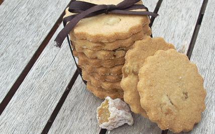 Biscuits sablés au gingembre confit - Photo par La soupe à la citrouille