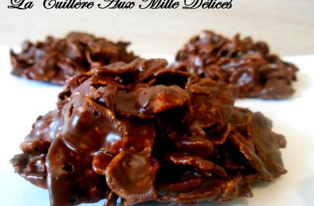 Roses des Sables faciles aux pétales de maïs et chocolat - Photo par La cuillère aux mille délices