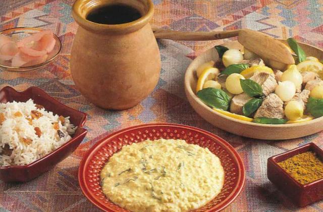 Bouchées de veau à la vapeur, sauce Cottage Cheese au curry - Photo par Cottage Cheese