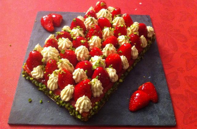 Tarte aux fraises et sa crème pistache - Photo par shaakt